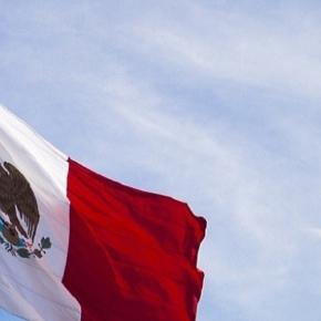 Una foto de la bandera mexicana