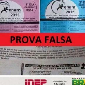 INEP divulgou uma nota, esclarecendo que o tema da redação do Enem 2016, não é o mesmo divulgado em uma prova falso no Enem 2015.