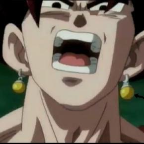 dragon ball super  kaioshin del este entrega sus pendientes potara a goku y vegeta