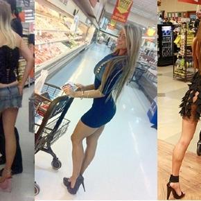 Fazer compras no supermercado ou desfilar? Algumas pessoas não entendem muito de moda.
