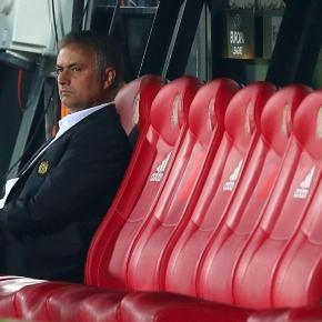 Mourinho appears distant from his new squad of players.