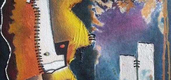 Une toile représentative d'Eliane Monique