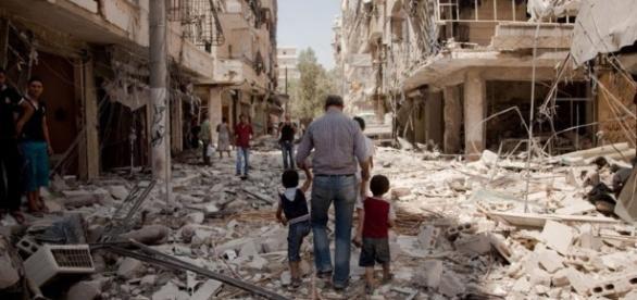 Crisis humanitaria en la ciudad de Alepo