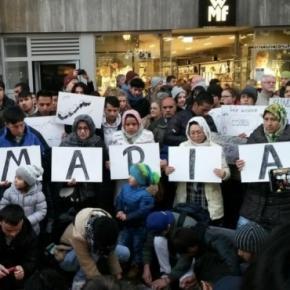 Trauerkundgebung für die vergewaltigte und getötete Maria Ladenburger (Screenshot)
