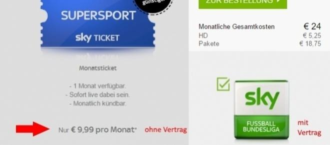 Sky Bundesliga für nur 9,99 Euro! Fachhändler verzweifeln.