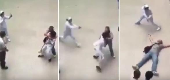 Policial disfarçada de enfermeira atinge homem no tórax.