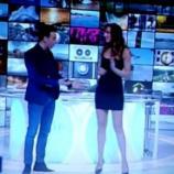 L'olimpionica durante la trasmissione televisiva Sbandati