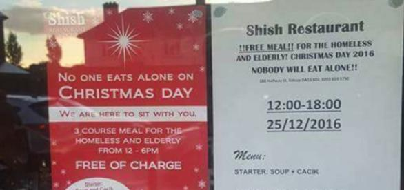 Nobody should eat alone on Christmas Day