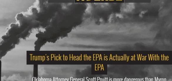 Scott Pruitt, climato-sceptique, succède à Myron Ebell, qui l'était tout autant, à la tête de l'Agence étasunienne de l'Environnement