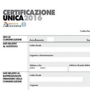 certificazione unica inps cu 2016 come e dove