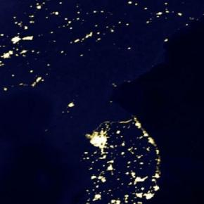 Korean Pernisula at Night (credit NASA)