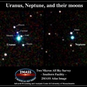 Uranus, Neptune, and their moons (Credit 2Mass)
