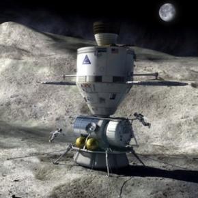 Astronauts visit an asteroid (Credit: NASA)