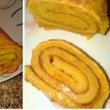 Torta de laranja com recheio de geleia de marmelo