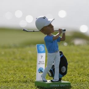Jordan Spieth's bobblehead made for golf's No. 1.