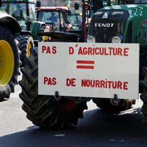 Manifestation des agriculteurs aujourd'hui.