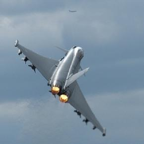 UK scrambles Typoons to Russian Bombers (flickr)