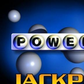The logo of the Powerball Lottery