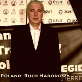 Polnischer Delegierte Jerzy König in Prag am 15.01