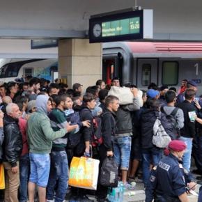 Imigranţi în Viena cu destinaţia Munchen