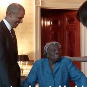 Barack Obama la dans cu o femeie de 106 ani