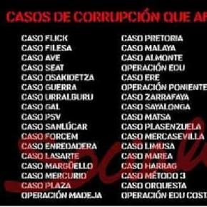 El psoe el partido m s corrupto - Casos de corrupcion en espana actuales ...