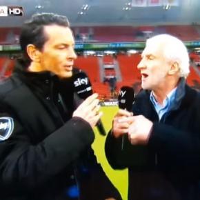Sebastian Hellmann mit Rudi Völler im Interview