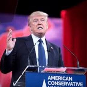 Donald Trump on the campaign trail (Wikipedia)