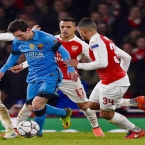 Lionel Messi en el partido frente al Arsenal