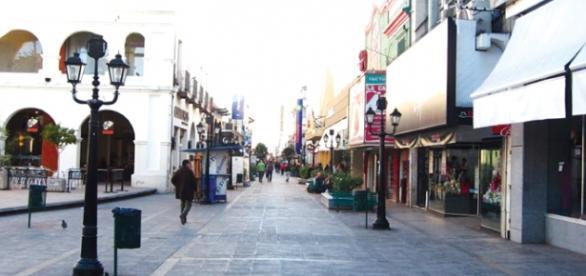 Calle para peatones en Barcelona