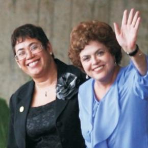 Em destaque, presidente Dilma e sua amiga Erenice.