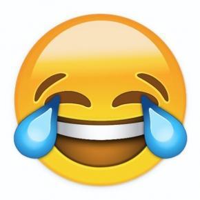 Laughing with tears emoji (Google)