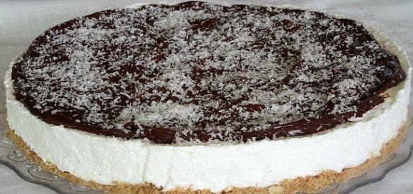 Cheesecake al cocco e nutella senza cottura