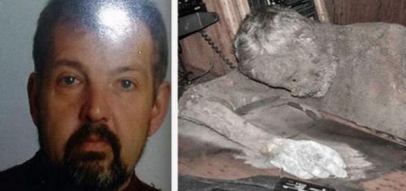 Corpul mumificat găsit la bord. Foto EPA-Poliţie