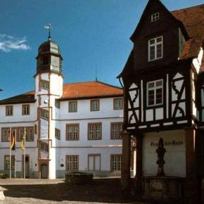 Fischmarkt und altes Rathaus in Alzey