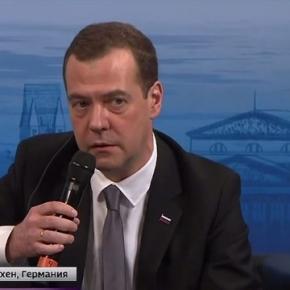 Dmitri Medwedew bei der Ansprache in München