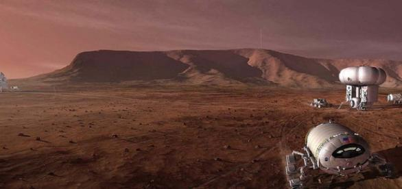 Concept of a human mission to Mars (Credit: NASA)