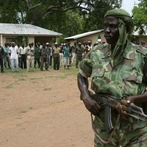 Soldado en la República Centroafricana