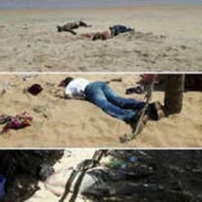 Masacru pe plajă Foto @LOPZDOBE-Twitter
