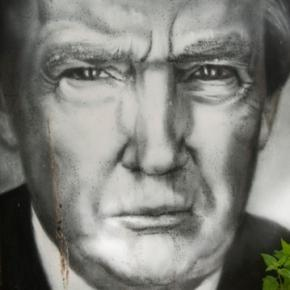 Donald Trump painting, creative commons via Flickr
