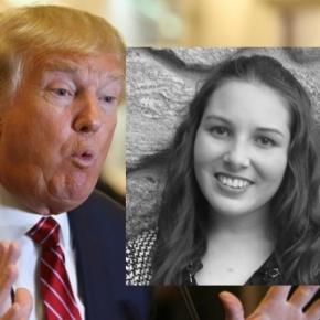 Julia T., eleva româncă şi Donald Trump