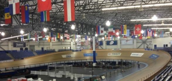 The track at the VELO Sports Center in Carson, Ca.