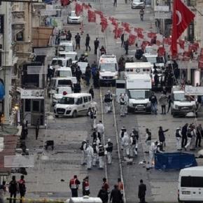 Locul atentatului sinucigaș din Istanbul