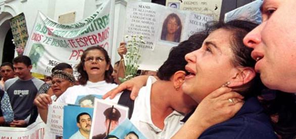Victimas del conflicto en Colombia.