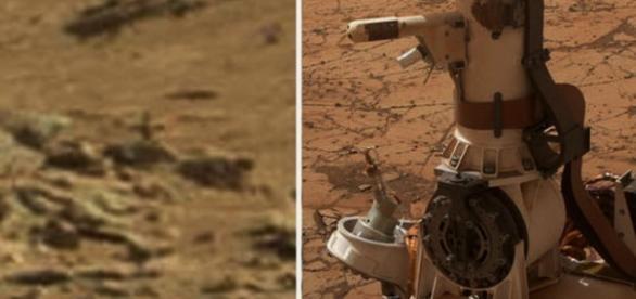 O cruce fotografiata pe planeta Marte