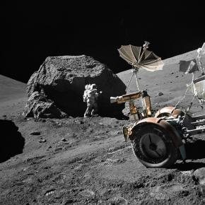 H. Schmitt working on the Moon (NASA Goddard Space Flight Center)