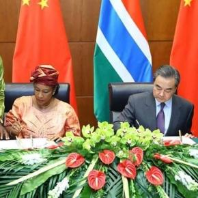 (Photo Credit: Alhagie Jobe) Gambia's Foreign Minister (L) and China's Foreign Minister (R)