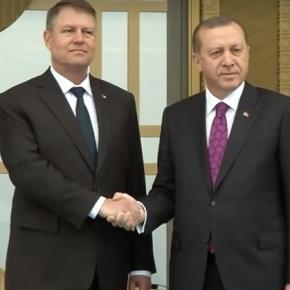 Klaus Iohannis și Recep Erdogan. Foto: Facebook