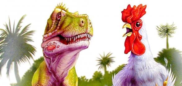 Chicken with dinosaur legs - https://en.wikipedia.org