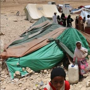 Khemir, displaced persons camp in Yemen. Amnesty International
